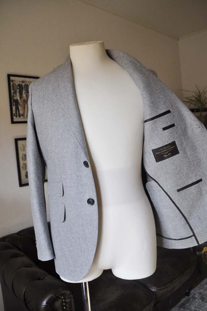 DSC2355 お客様のスーツの紹介- Canonico ライトグレーフランネルスーツ-