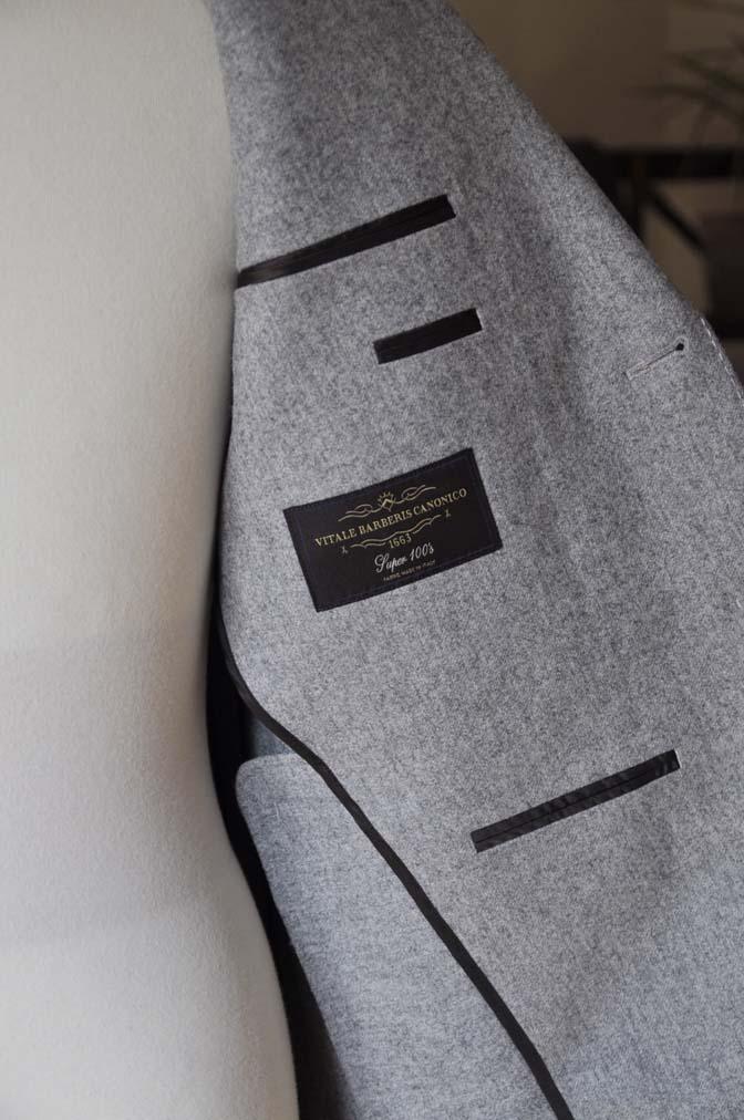 DSC2356-1 お客様のスーツの紹介- Canonico ライトグレーフランネルスーツ-