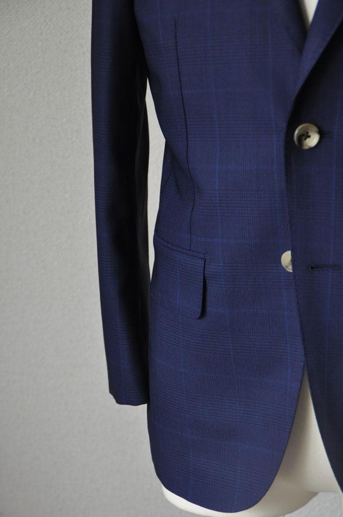 DSC2356 お客様のスーツの紹介-LoroPiana ネイビチェックスーツ - 名古屋の完全予約制オーダースーツ専門店DEFFERT