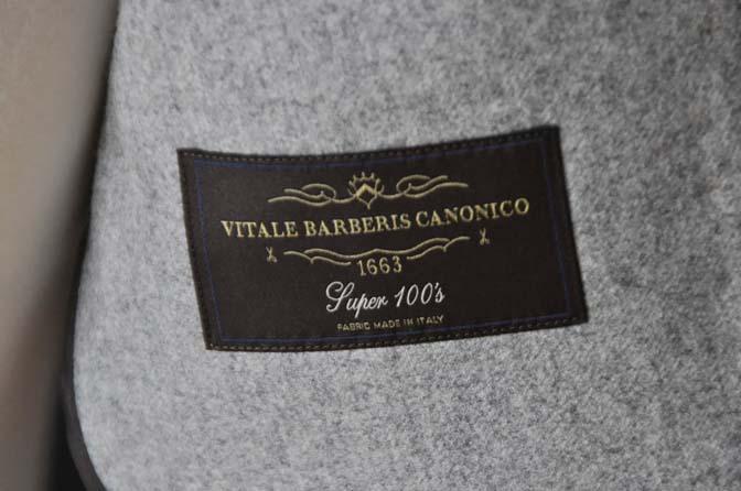 DSC2357-1 お客様のスーツの紹介- Canonico ライトグレーフランネルスーツ-