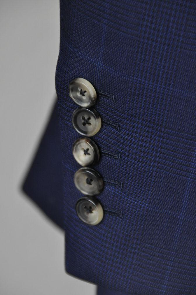 DSC23571 お客様のスーツの紹介-LoroPiana ネイビチェックスーツ - 名古屋の完全予約制オーダースーツ専門店DEFFERT
