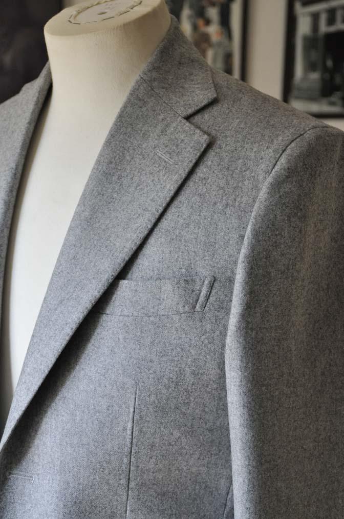 DSC2358-1 お客様のスーツの紹介- Canonico ライトグレーフランネルスーツ-