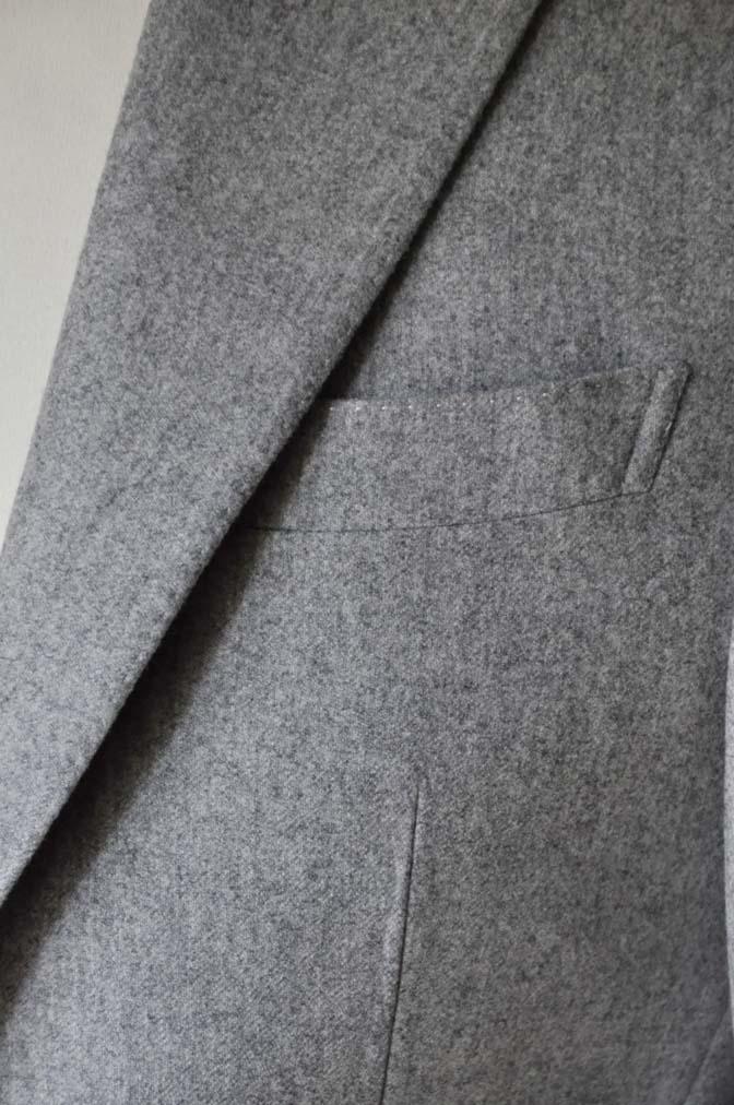 DSC2360-1 お客様のスーツの紹介- Canonico ライトグレーフランネルスーツ-