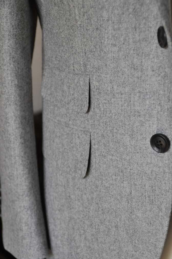 DSC2362-1 お客様のスーツの紹介- Canonico ライトグレーフランネルスーツ-