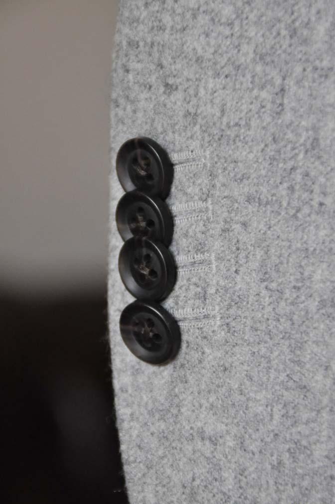 DSC2363-1 お客様のスーツの紹介- Canonico ライトグレーフランネルスーツ-