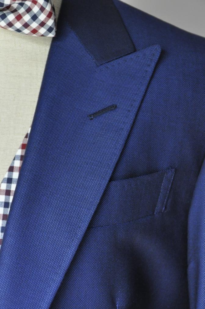 DSC23631 お客様のウエディング衣装の紹介-BIELLESI ネイビースーツ チェックベスト- 名古屋の完全予約制オーダースーツ専門店DEFFERT