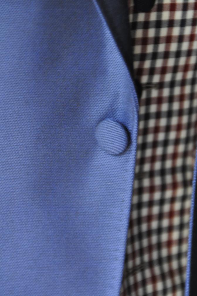 DSC23661 お客様のウエディング衣装の紹介-BIELLESI ネイビースーツ チェックベスト- 名古屋の完全予約制オーダースーツ専門店DEFFERT
