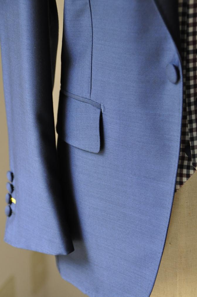 DSC2367 お客様のウエディング衣装の紹介-BIELLESI ネイビースーツ チェックベスト- 名古屋の完全予約制オーダースーツ専門店DEFFERT