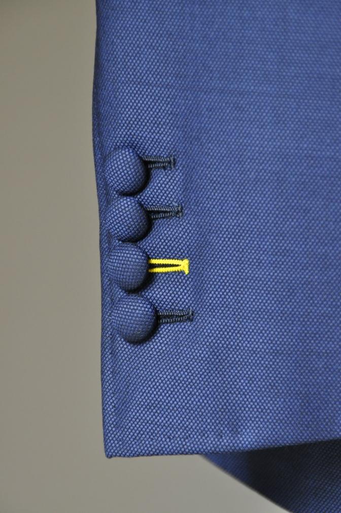 DSC23681 お客様のウエディング衣装の紹介-BIELLESI ネイビースーツ チェックベスト- 名古屋の完全予約制オーダースーツ専門店DEFFERT