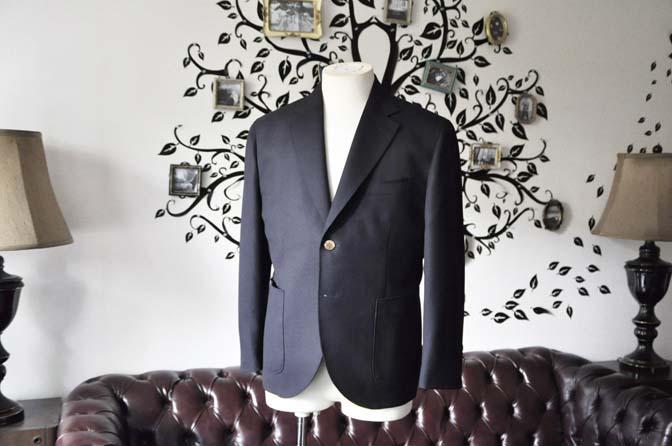 DSC2376-1 お客様のジャケットの紹介-ネイビーホップサックジャケット-