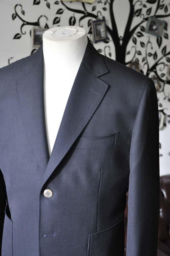 DSC2381-1 お客様のジャケットの紹介-ネイビーホップサックジャケット-