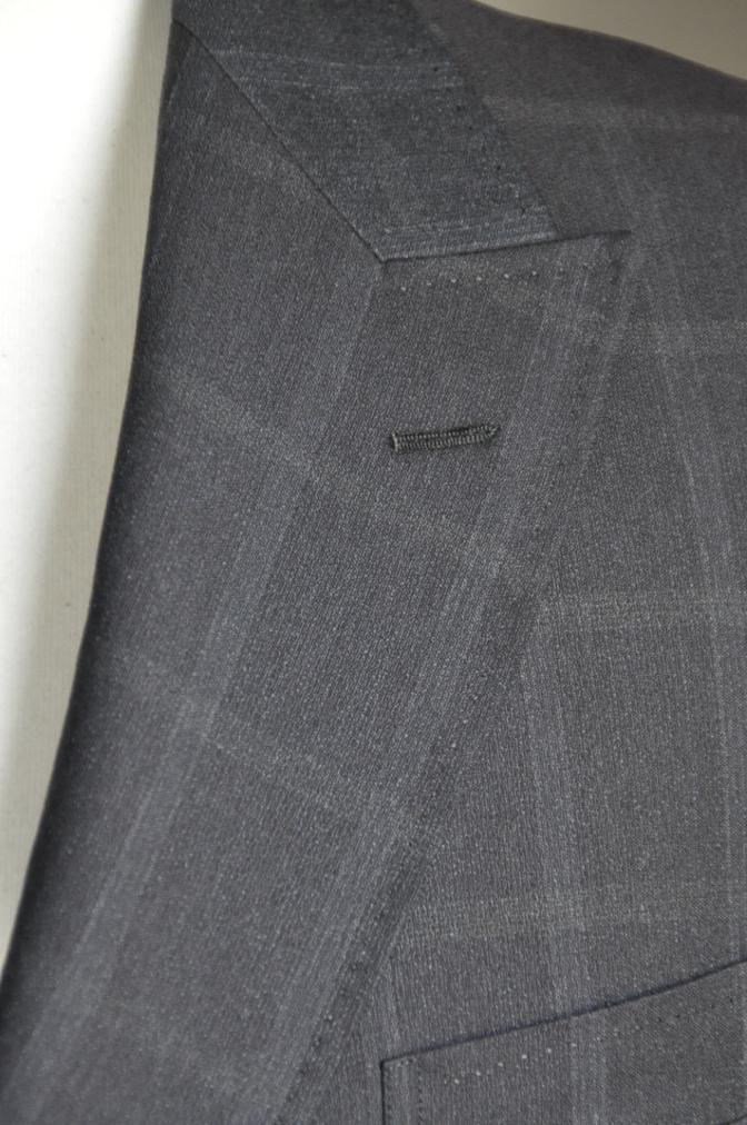 DSC2381 オーダースーツ-BIELLESI ブラウン ウインドペイン ダブルスーツ-