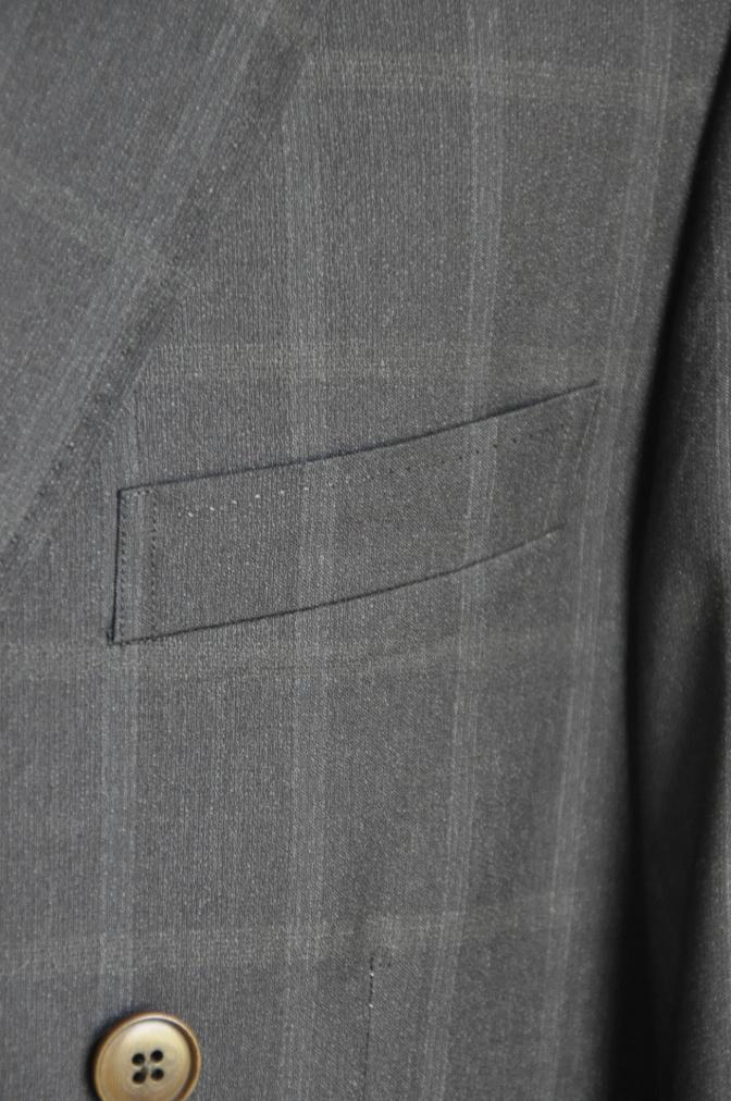 DSC2382 オーダースーツ-BIELLESI ブラウン ウインドペイン ダブルスーツ-