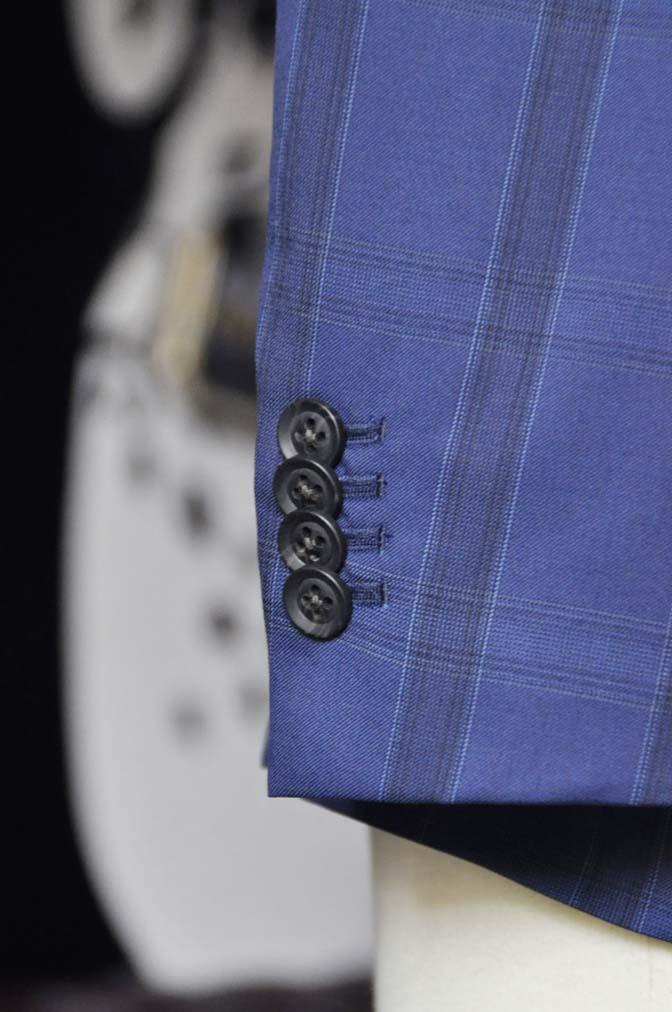 DSC2402-2 お客様のウエディング衣装の紹介- CANOICOネイビーチェックジャケット ライトブルー千鳥格子ベスト- 名古屋の完全予約制オーダースーツ専門店DEFFERT