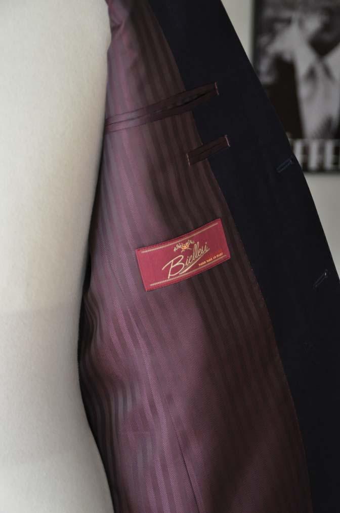 DSC2405-1 お客様のスーツの紹介- Biellesi ネイビーウィンドペン-