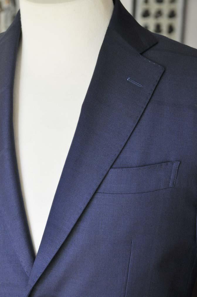 DSC2408 お客様のスーツの紹介- Biellesi ネイビーウィンドペン-