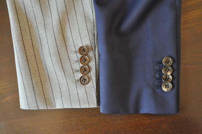 DSC2409-2 スーツのパーツ名称「重ねボタン」 名古屋の完全予約制オーダースーツ専門店DEFFERT