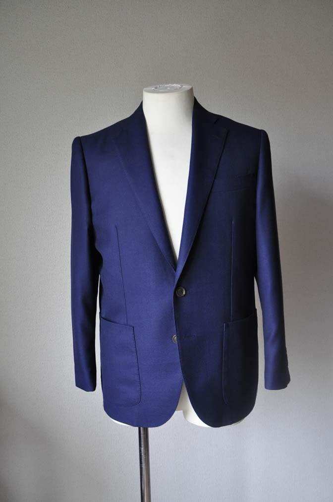 DSC2412 お客様のジャケットの紹介-CANONICO ネイビーホップサックジャケット-