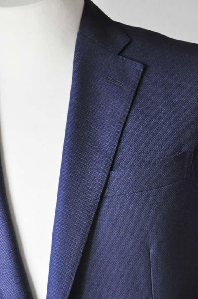 DSC2414 お客様のジャケットの紹介-CANONICO ネイビーホップサックジャケット-
