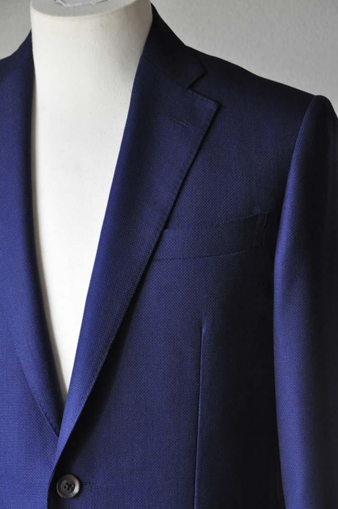 DSC24161 お客様のジャケットの紹介-CANONICO ネイビーホップサックジャケット-