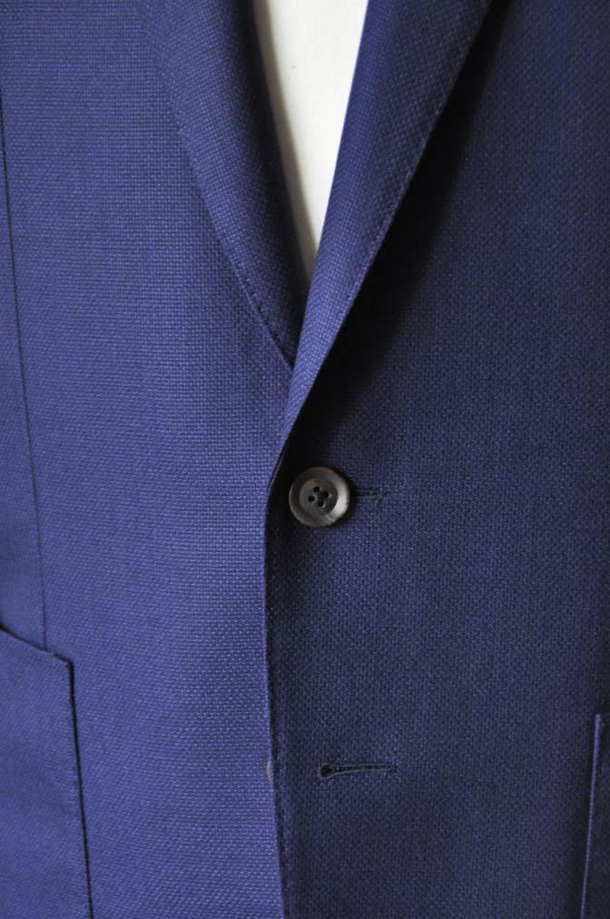 DSC24171 お客様のジャケットの紹介-CANONICO ネイビーホップサックジャケット-