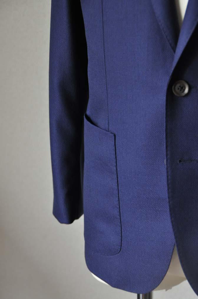 DSC24181 お客様のジャケットの紹介-CANONICO ネイビーホップサックジャケット-