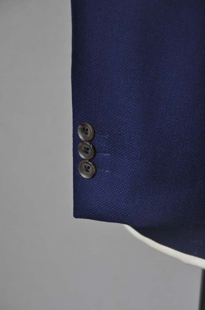 DSC24191 お客様のジャケットの紹介-CANONICO ネイビーホップサックジャケット-