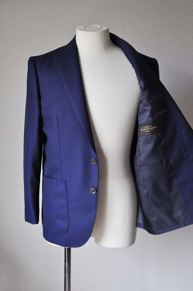 DSC24201 お客様のジャケットの紹介-CANONICO ネイビーホップサックジャケット-