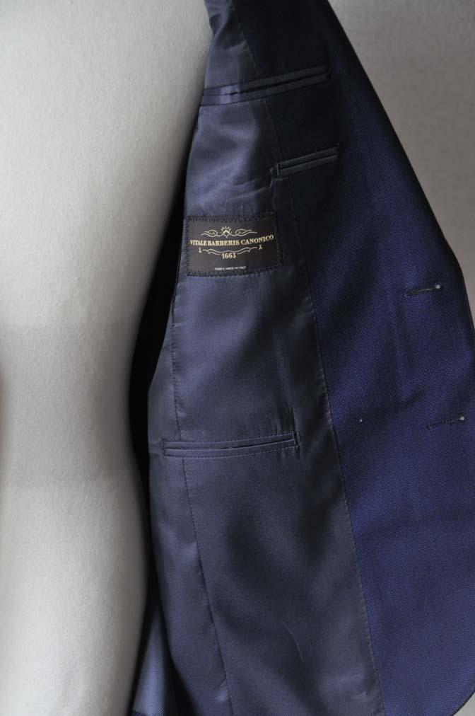 DSC24211 お客様のジャケットの紹介-CANONICO ネイビーホップサックジャケット-