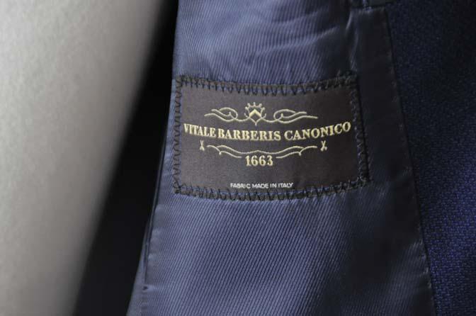 DSC2422 お客様のジャケットの紹介-CANONICO ネイビーホップサックジャケット-