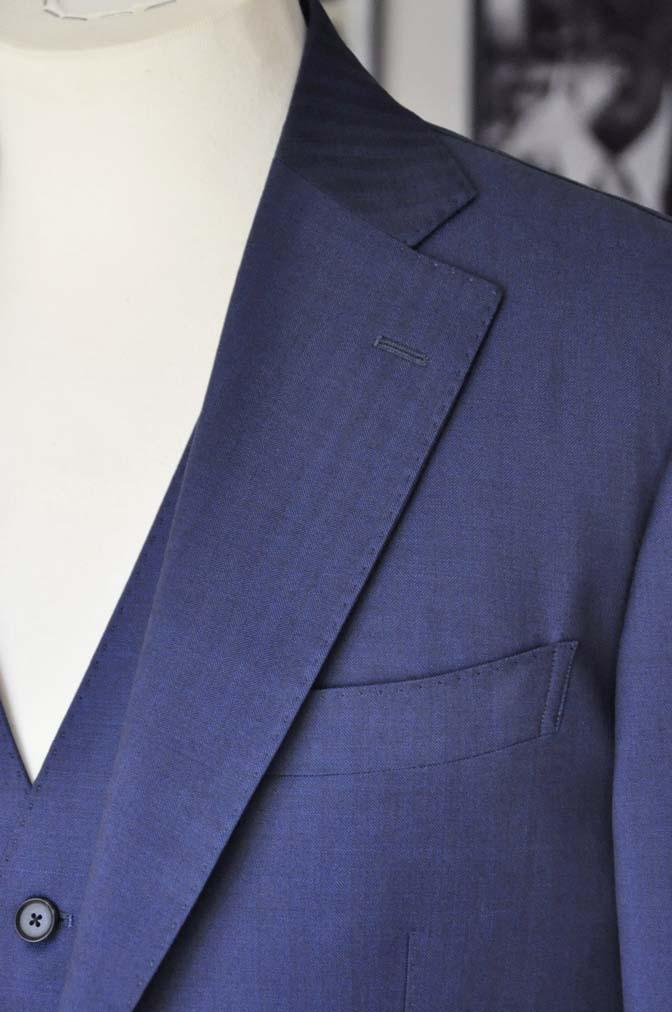 DSC24221 お客様のスーツの紹介- Biellesi ネイビーヘリンボーンスリーピース-