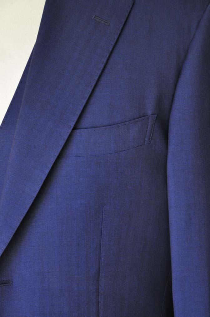 DSC24231 お客様のスーツの紹介- Biellesi ネイビーヘリンボーンスリーピース-