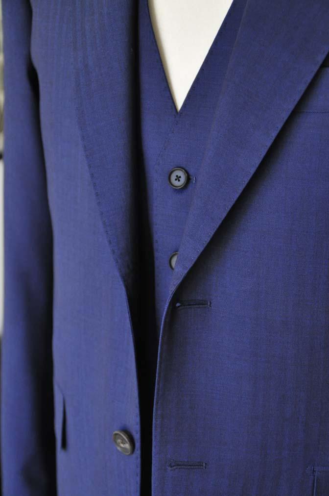 DSC2424 お客様のスーツの紹介- Biellesi ネイビーヘリンボーンスリーピース-