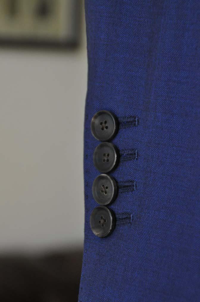 DSC24291 お客様のスーツの紹介- Biellesi ネイビーヘリンボーンスリーピース-