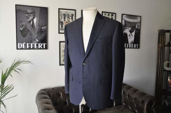 DSC2434-1 お客様のスーツの紹介- Canonico ネイビースーツ-
