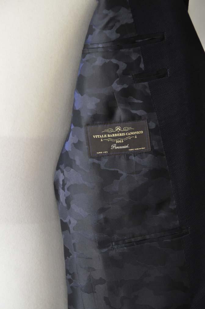 DSC2438-1 お客様のスーツの紹介- Canonico ネイビースーツ-