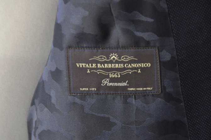 DSC2440-1 お客様のスーツの紹介- Canonico ネイビースーツ-