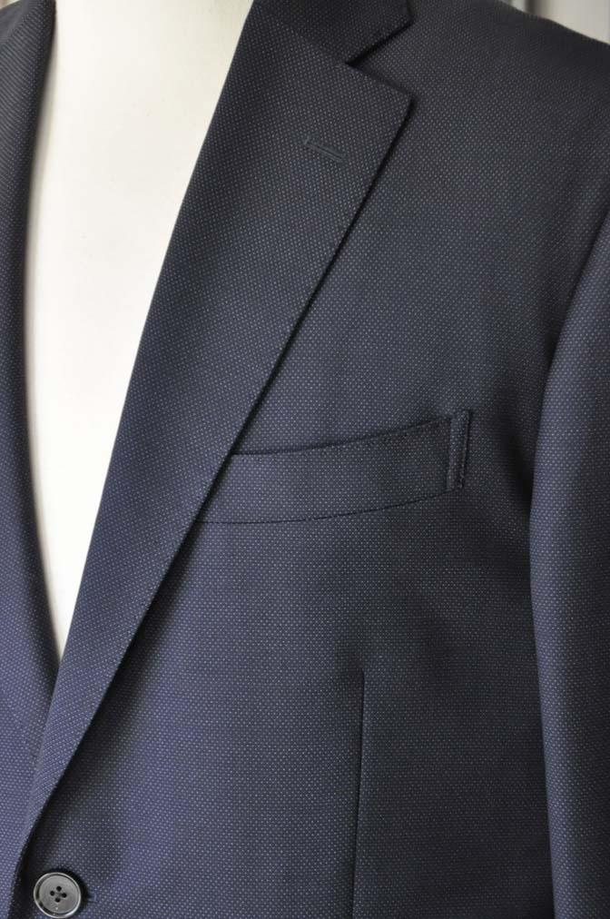 DSC2443-1 お客様のスーツの紹介- Canonico ネイビースーツ-