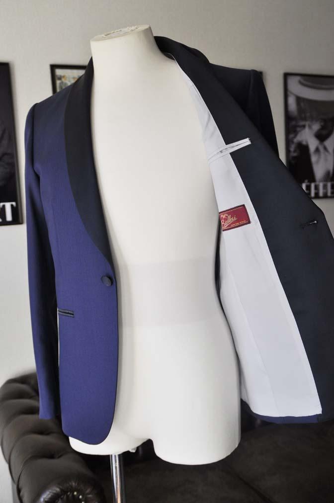 DSC24582 お客様のウエディング衣装の紹介- Biellesi ネイビーヘリンボーン ショールカラータキシード-DSC24582 お客様のウエディング衣装の紹介- Biellesi ネイビーヘリンボーン ショールカラータキシード- 名古屋市のオーダータキシードはSTAIRSへ