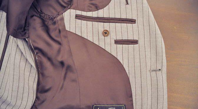 スーツのパーツ名称「お台場仕立て」