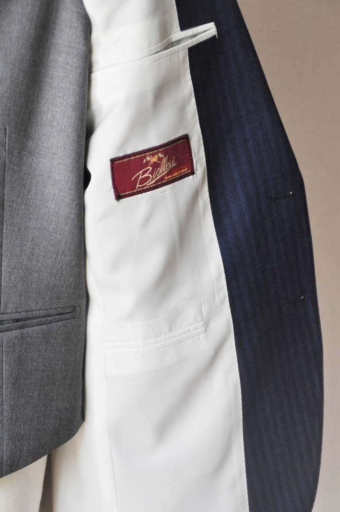DSC24622 お客様のウエディング衣装の紹介-Biellesi ネイビースーツ グレーベスト- 名古屋の完全予約制オーダースーツ専門店DEFFERT
