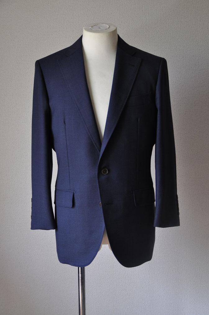 DSC24721 お客様のスーツの紹介-御幸毛織ネイビーチェックスーツ-