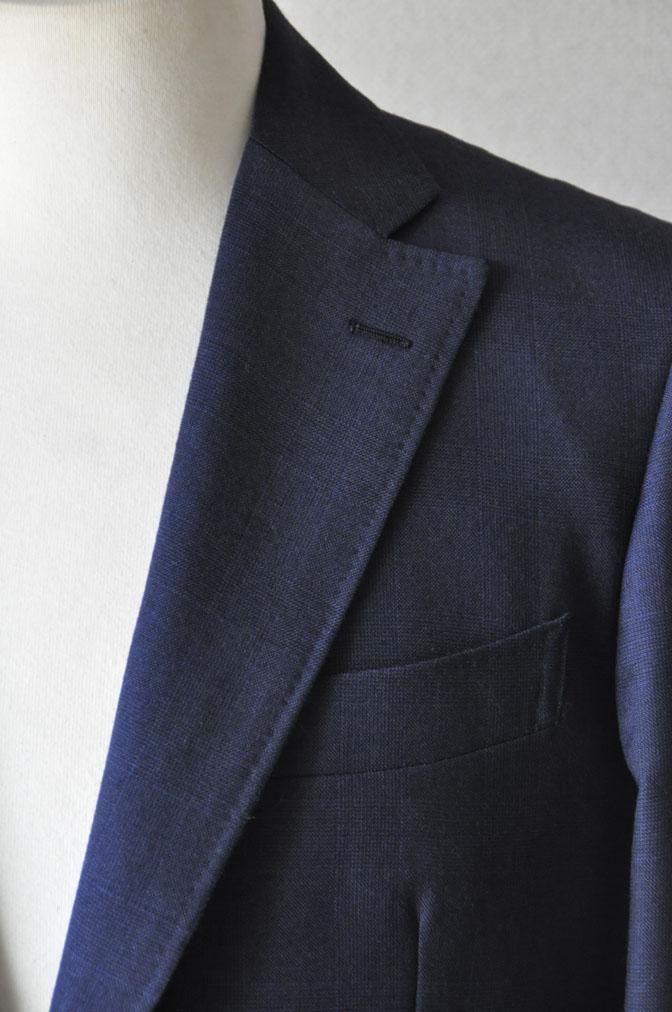 DSC24741 お客様のスーツの紹介-御幸毛織ネイビーチェックスーツ-