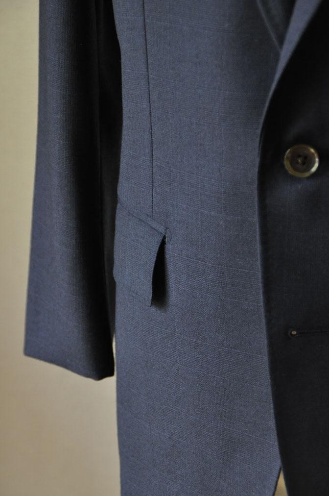 DSC2477 お客様のスーツの紹介-御幸毛織ネイビーチェックスーツ-
