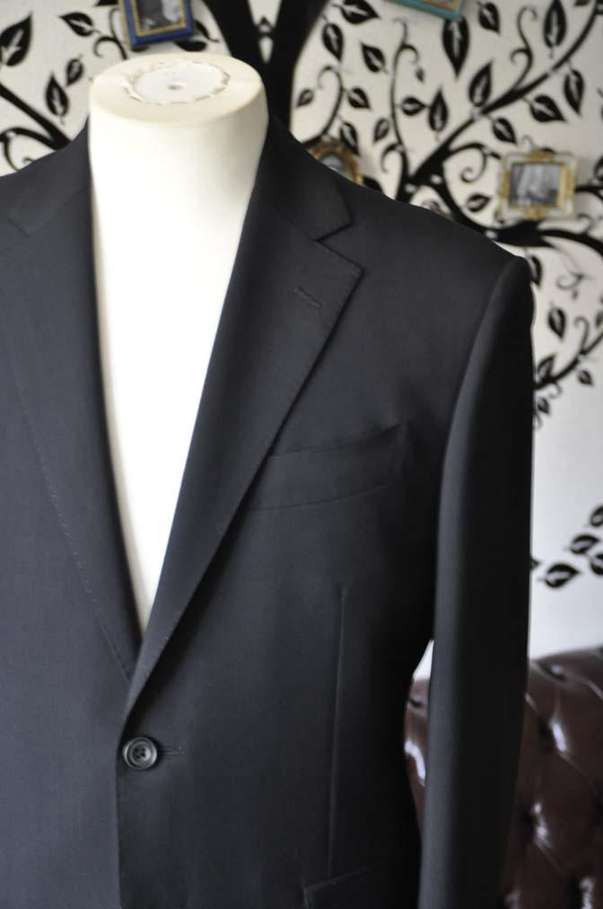 DSC2481-1 お客様のスーツの紹介-御幸毛織 ダークネイビースーツ-