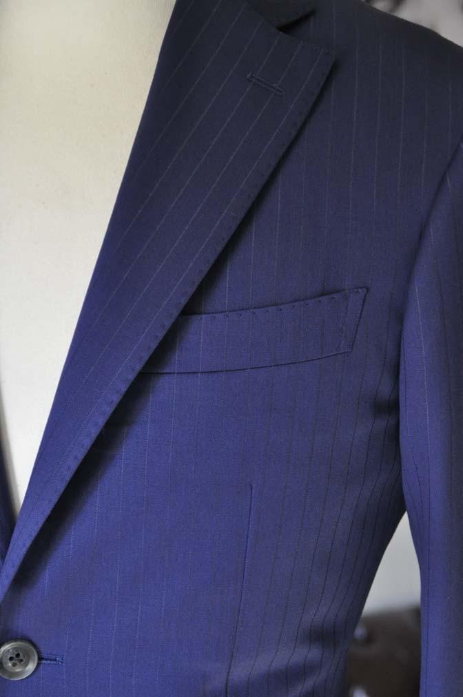 DSC2502-1 お客様のスーツの紹介- Biellesi ネイビーストライプ-