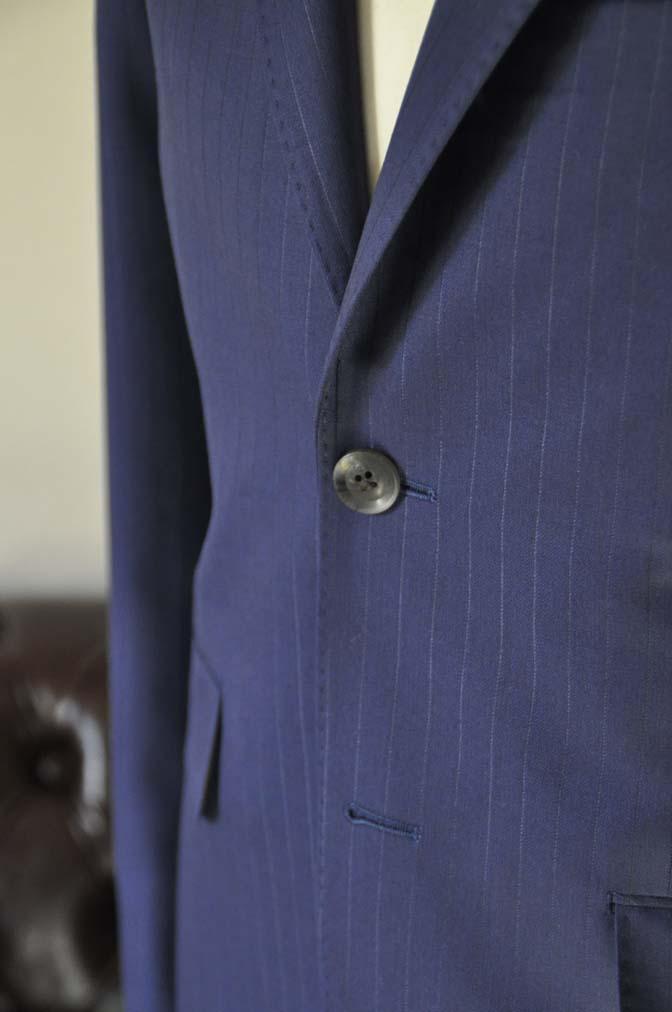 DSC2503-1 お客様のスーツの紹介- Biellesi ネイビーストライプ-