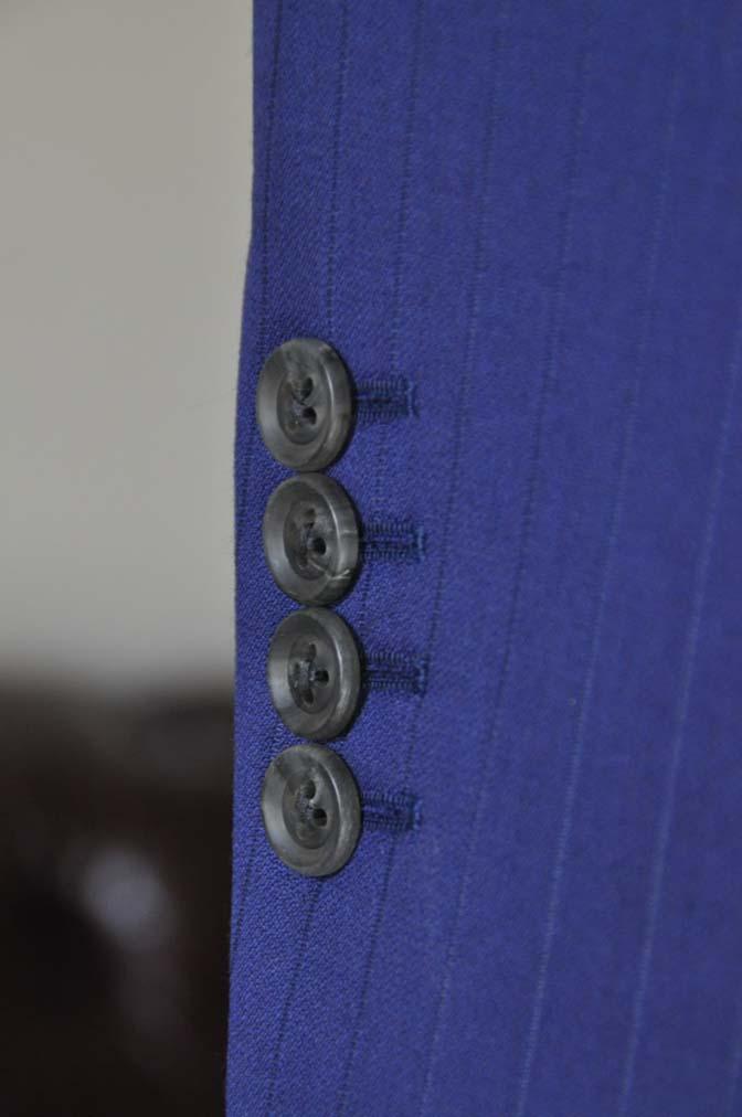 DSC2506 お客様のスーツの紹介- Biellesi ネイビーストライプ-