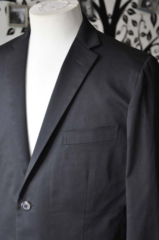 DSC2518-1 お客様のカジュアルスーツの紹介-LARUSMIANI ブラック コットンセットアップ- 名古屋の完全予約制オーダースーツ専門店DEFFERT