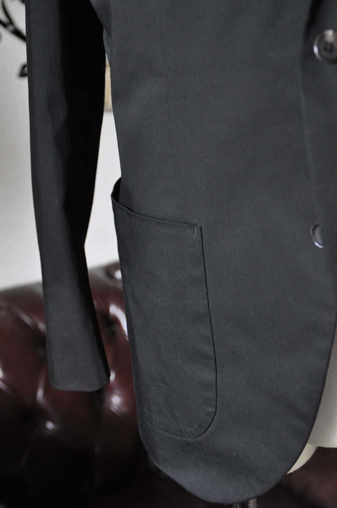 DSC2520-1 お客様のカジュアルスーツの紹介-LARUSMIANI ブラック コットンセットアップ- 名古屋の完全予約制オーダースーツ専門店DEFFERT